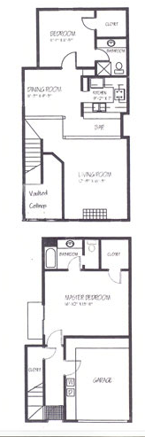 Waterbury place townhomes apartment help for 1125 maxwell lane floor plans